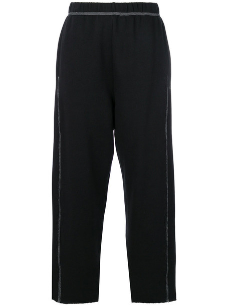 Mm6 Maison Margiela sweatpants women classic cotton black pants