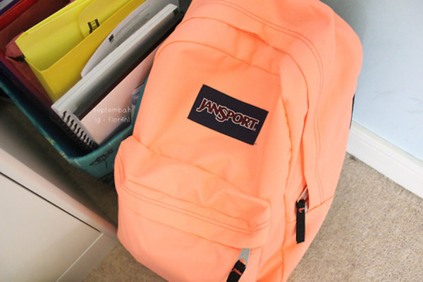bag orange jansport