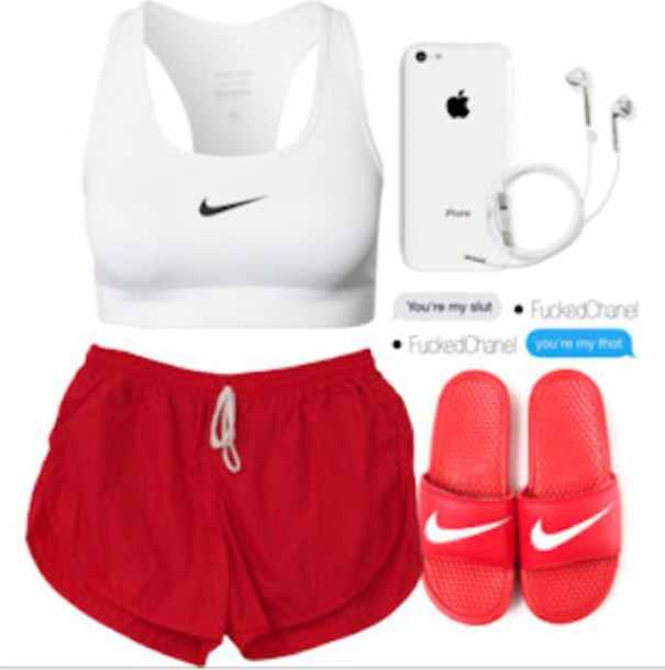 Shorts: red shorts, jogging shorts, runnign shorts, gym shorts ...