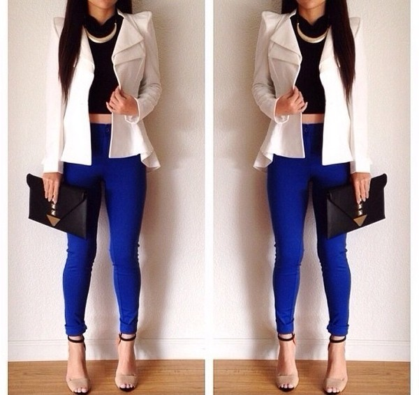 jewels necklace jacket shoes jeans shirt