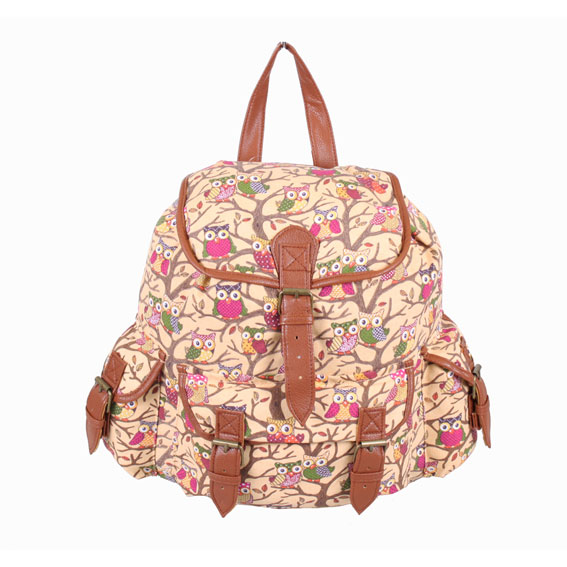 Ladies Girls Canvas Backpack Rucksack Shoulder Travel School College Travel Bag