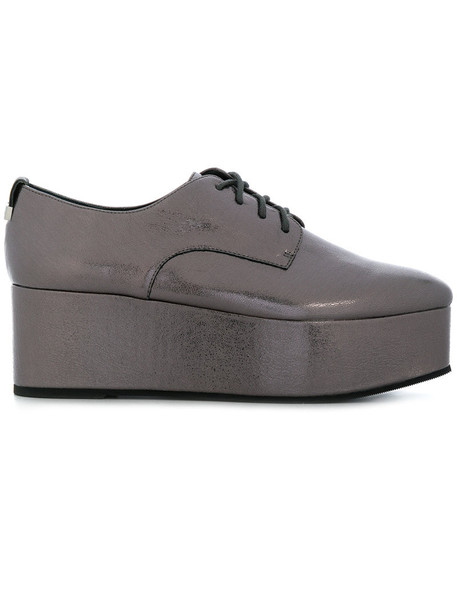 Calvin Klein women shoes leather grey