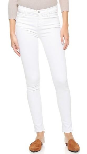 jeans high blanc