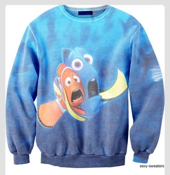 disney disney sweater walt disney sweater finding nemo