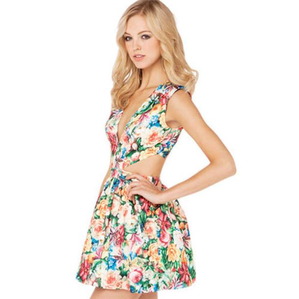 Popular Beautiful Young Woman With Short Hair Wearing Dress