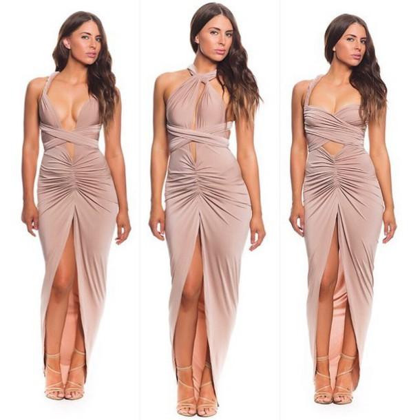 471856f75295 dress summer dress bandage dress maxi long dress long dress bodycon fold  split dress bodycon dress