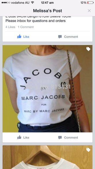 shirt marc jacobs tee marc by marc jacobs