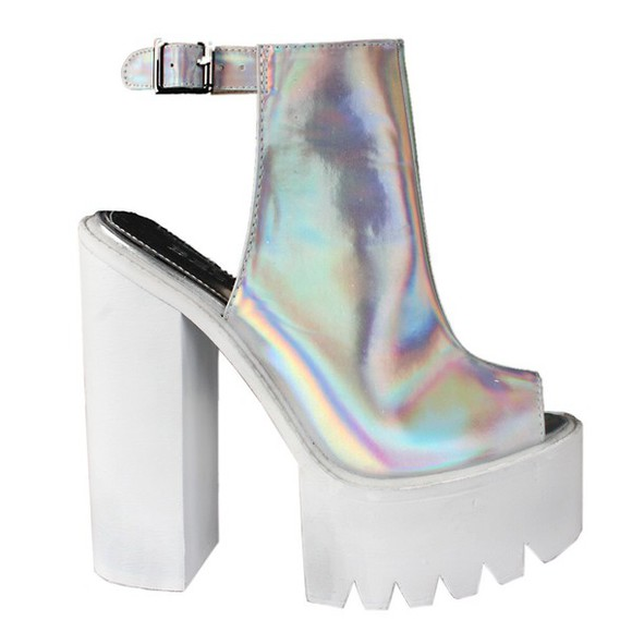 metallic shoes high heels platform high heels metallic shoes cleat platforms platform boots cleated sole