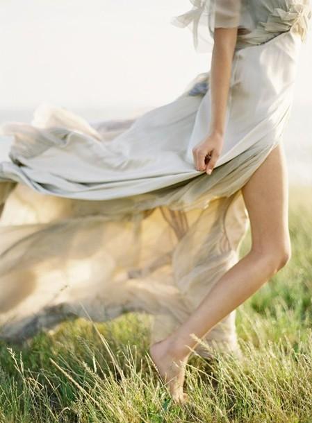 dress long dress layered dress slit dress slit skirt flowy dress short sleeve