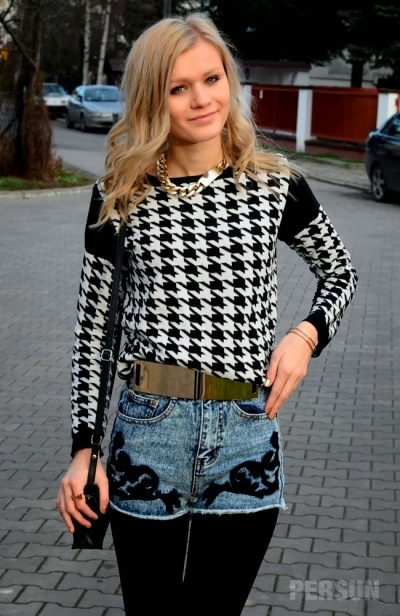 Plover Lattice Knitting Sweater [FKBJ10199] - PersunMall.com