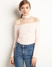 top,pink choker off the shoulder top,pink,pink top,choker top,pixiemarket,off the shoulder,off the shoulder top,kylie jenner,celebrity style