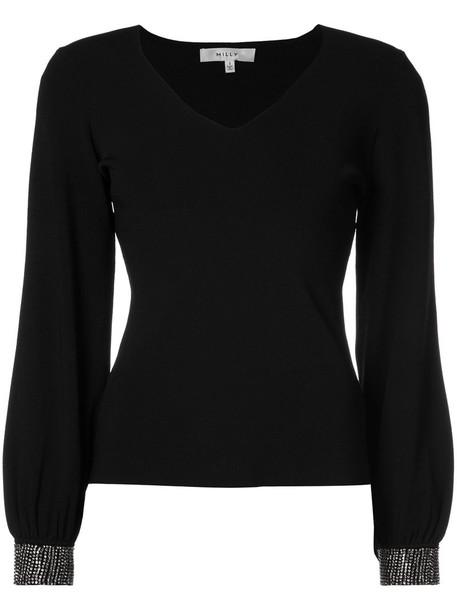 jumper women embellished black sweater