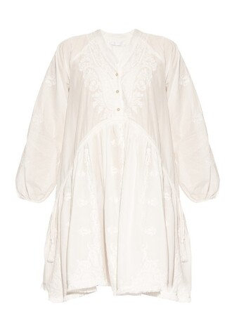 dress embroidered cotton white