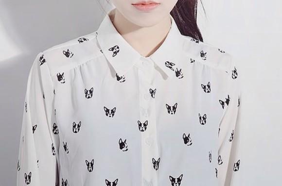 dog blouse