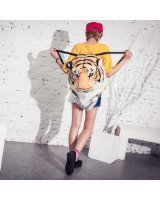 Amazon.com: Cool 3D Tiger Head Plush Backpack From Pomelo (White): Clothing