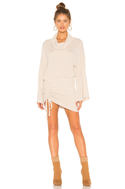 1c8b18f41dd13 Free People Sundown Mini Dress in beige / beige - Wheretoget