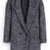 Light Grey Notch Lapel Buttons Pockets Coat - Sheinside.com