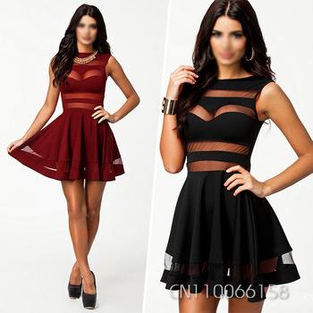 Black Deep V Sexy Party Long Dress Women Clothing Vestidos De