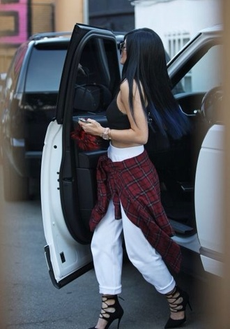 pants kylie jenner cop top white jeans