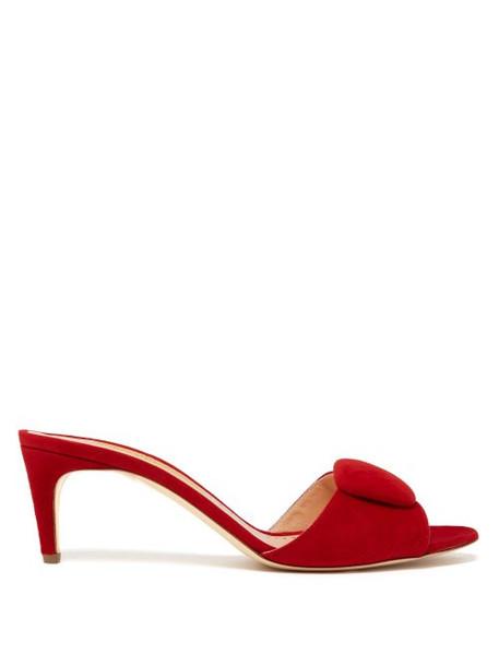 Rupert Sanderson - Gwyneth Suede Pebble Mules - Womens - Red