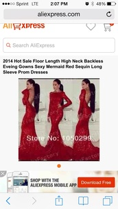 dress,red lace backless prom dress long