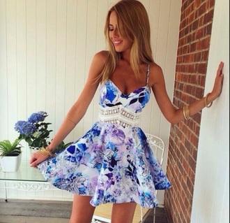 dress purple dress floral dress