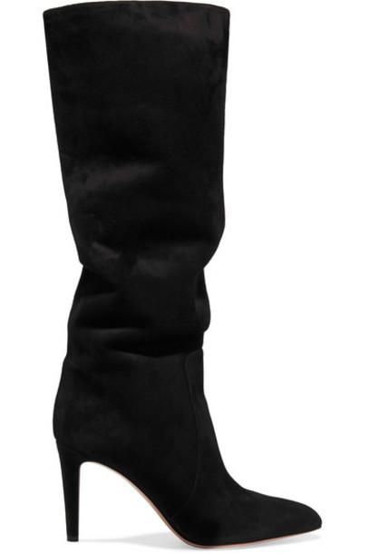 Gianvito Rossi suede black shoes