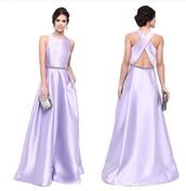 dress,lilac,purple dress,gown,prom dress