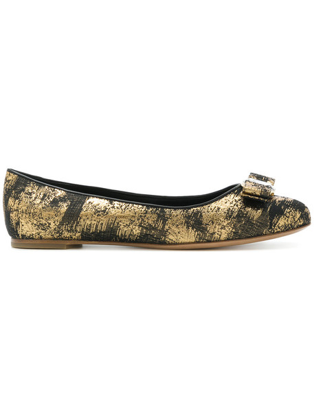 Salvatore Ferragamo women embellished shoes leather black