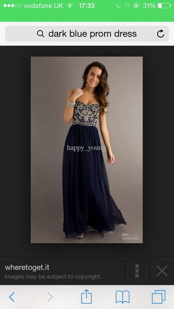 dress dark blue