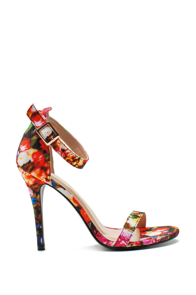 Charlie 11 petal pusher two strap heel