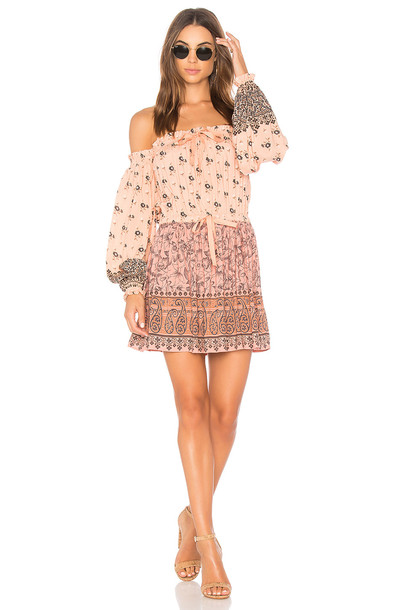 Spell & The Gypsy Collective dress mini dress mini off the shoulder pink