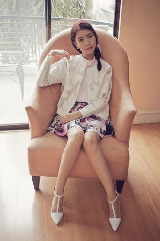 tricia gosingtian blogger top skirt jacket shoes