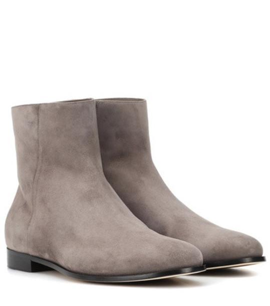 Jimmy Choo Duke suede ankle boots in grey