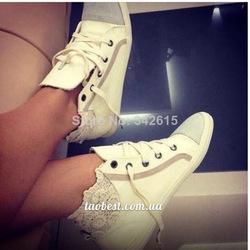 Coton fait 2014 l'arrivée de nouveaux gagaopt russe. broderie de dentelle femmes chaussures de mode dans de sur Aliexpress.com