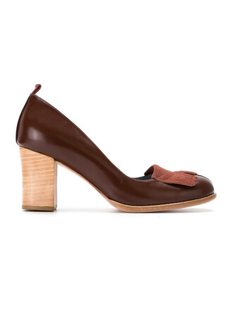 women pumps brown shoes