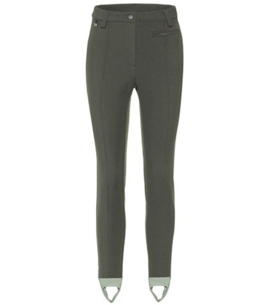 Fendi Stirrup trousers in green