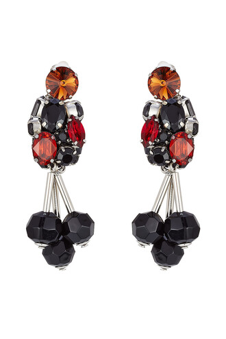 embellished earrings multicolor jewels