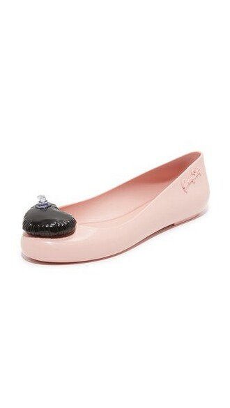 space love flats pink shoes