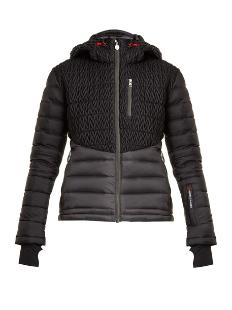 Perfect Moment jacket quilted chevron black