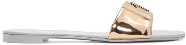 Giuseppe Zanotti metallic sandals gold shoes