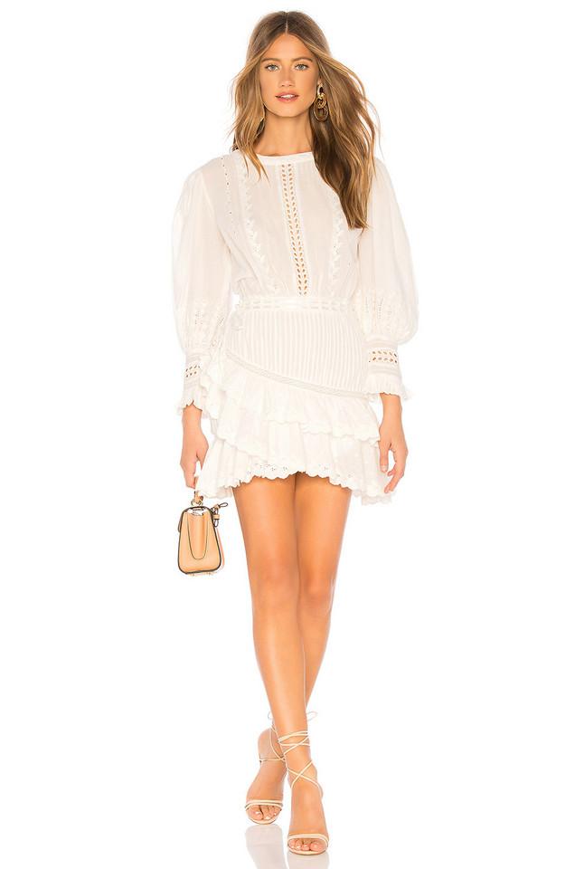 LoveShackFancy Lorelei Dress in white