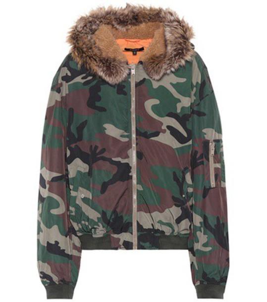 jacket bomber jacket camouflage green
