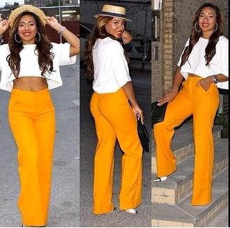pants yellow high waisted jeans boho