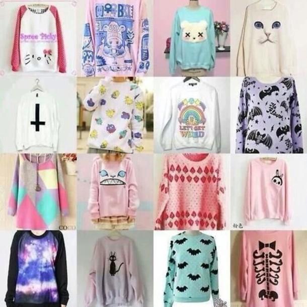 Pastel Goth On Tumblr: Sweater: Blouse, Sweater Kawaii, Kawaii, Pastel, Tumblr