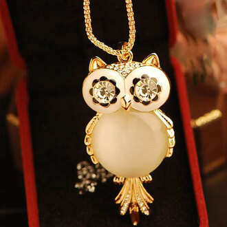 jewels necklace fashion owl