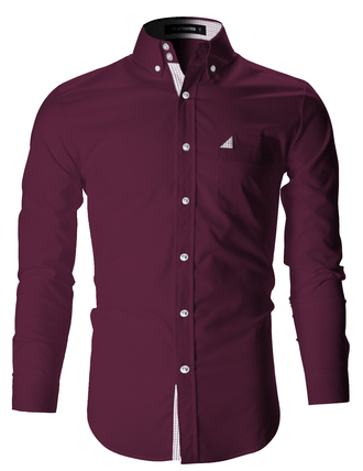shirt menswear fashion business casual business professional casual long sleeves purple