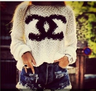 outfit chanel topshop sweater white sweater winter outfits top top for women girl dress