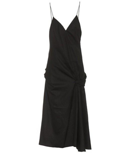 Jacquemus La Robe Samba wool dress in black