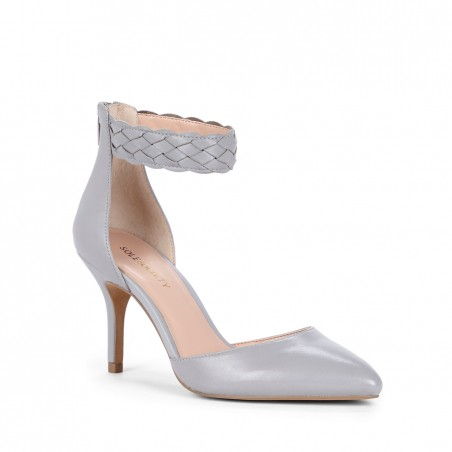 Women's Silver Sconce Leather 3 Inch  Pointed Toe Heel   Linn by Sole Society